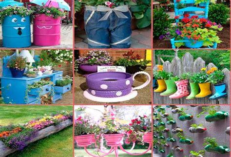Cómo decorar el jardín con materiales reciclados
