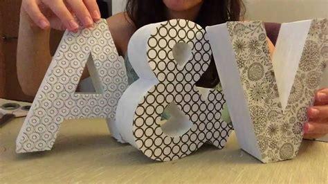 Como Decorar letras de cartón?   YouTube