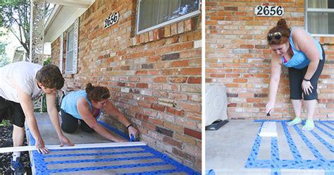 Cómo decorar tu porche con pintura y cinta adhesiva   rolloid