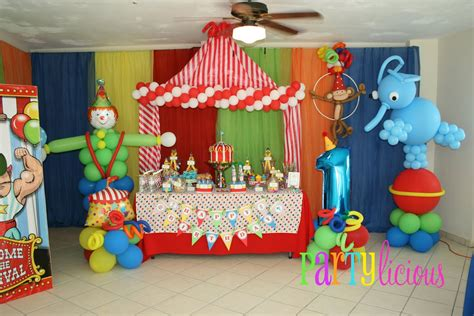 Como decorar una fiesta tipo circo   Imagui