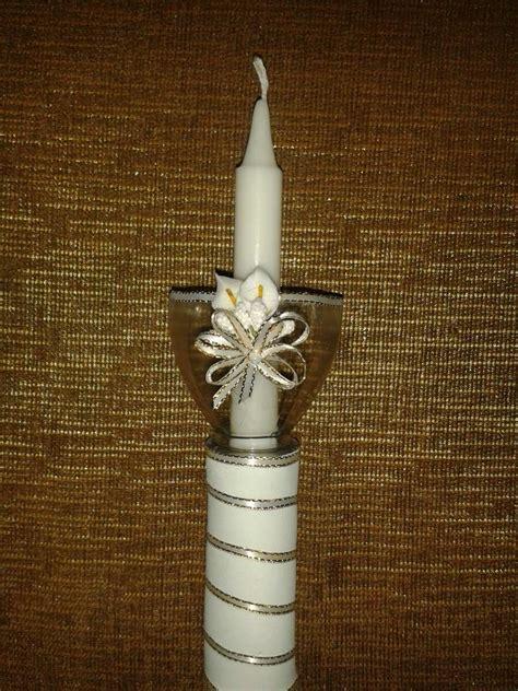 como decorar una vela de primera comunion   Buscar con ...