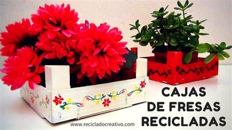 Cómo decorar y reciclar una caja de fresas pintando una ...