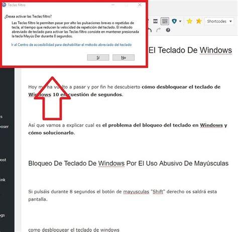 Cómo Desbloquear El Teclado De Windows 10 En 8 SEGUNDOS ...