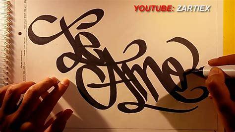 Como dibujar dibujos de amor   Graffiti de amor   ZARTIEX ...