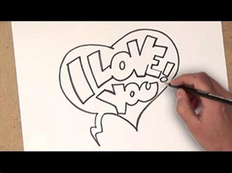 como dibujar i love you | como dibujar i love you paso a ...