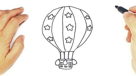 Como dibujar un Globo Aerostático paso a paso   YouTube