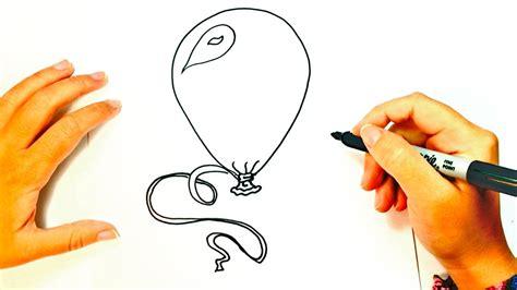 Cómo dibujar un Globo para niños   Dibujo de Globo paso a ...