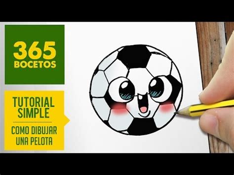 Como dibujar una pelota de fútbol kawaii