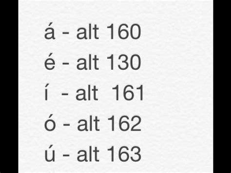 Como Escribir Acentos   á, é, í, ó, ú, y otros Simbolos ü ...