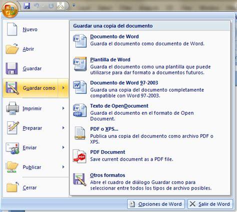Cómo guardar documentos en Word 2007 en formato .doc ...