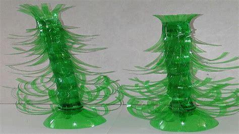 como hacer arbol de navidad con botellas de plastico ...