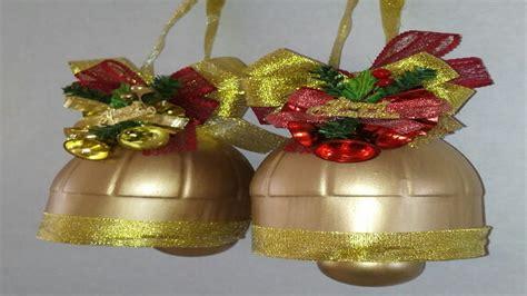 como hacer campanas de navidad con botellas de plastico ...