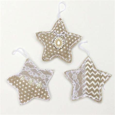 Como hacer estrellas navideñas de arpillera | Todo ...