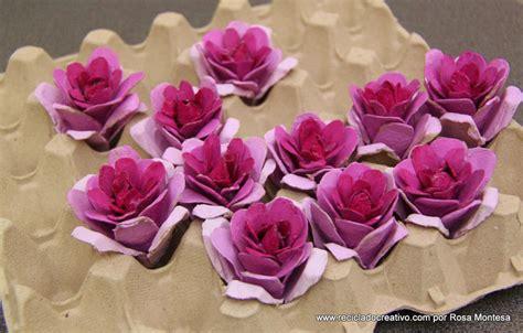 Cómo hacer flores con hueveras de cartón   RECICLADO ...