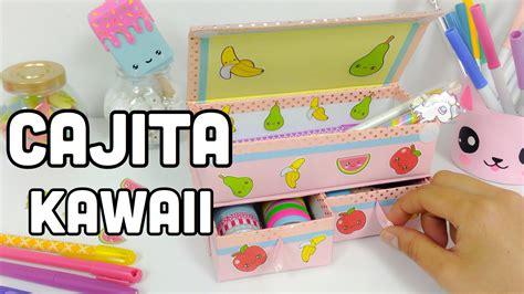 Como hacer una CAJITA para organizar\MANUALIDADES KAWAII ...