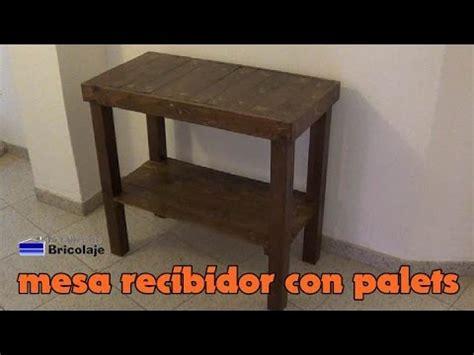 Cómo hacer una mesa recibidor con palets   YouTube