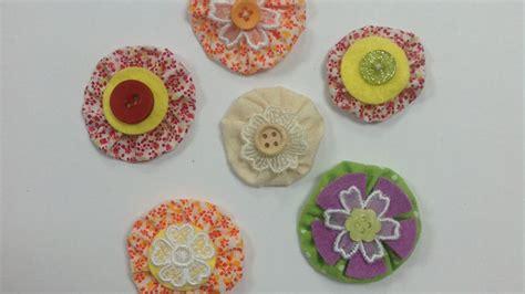 Como hacer unas flores yoyó de tela muy originales   Hazlo ...
