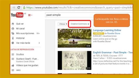 Como obtener videos de Youtube con Licencia Creative Commons