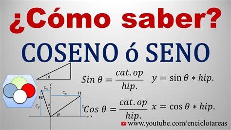 ¿Como saber cuando se usa SENO O COSENO?  CONCEPTOS ...