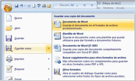 Como Salvar Documentos De Microsoft Office Word 2007