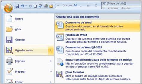 Como Salvar Documentos De Microsoft Office Word 2007
