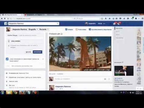 Como subir un gif a facebook   2015   YouTube