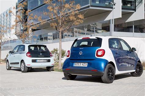 Comparativa: Renault Twingo 1.0 vs Smart Forfour 1.0 ...