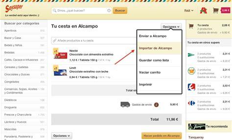 Compra online en Alcampo   Blog de Soysuper
