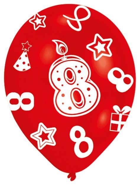 Comprar Globos 8 cumpleaños  6  online al mejor precio por ...