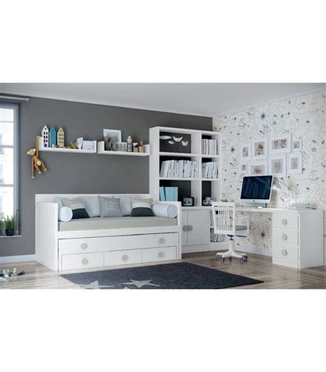 Comprar online dormitorio juvenil lacado en blanco