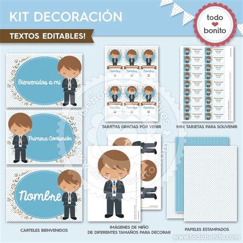 Comunión Niño Celeste: Kit decoración   Todo Bonito
