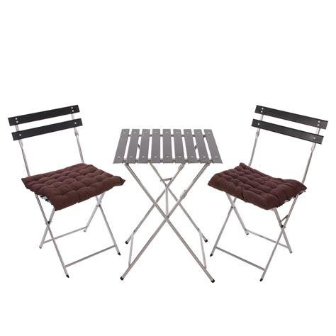 Conjunto de 2 Sillas + Mesa para Terraza o Jardín en metal ...