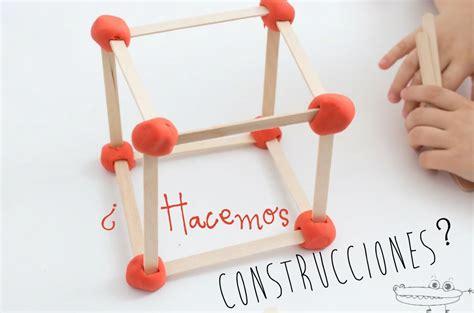 Construcciones con palitos y plastilina   Manualidades ...