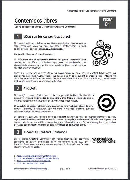 Contenidos libres: las licencias Creative Commons | Esfera TIC