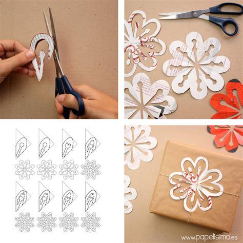 Copos de nieve de papel con revistas   PAPELISIMO