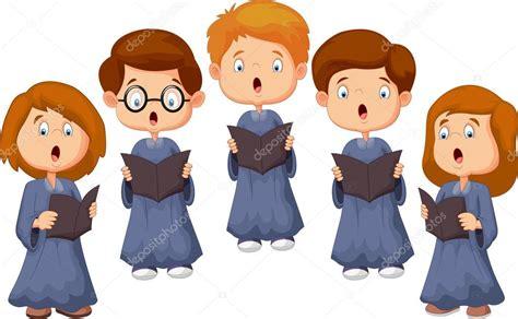 Coral de crianças dos desenhos animados — Vetores de Stock ...