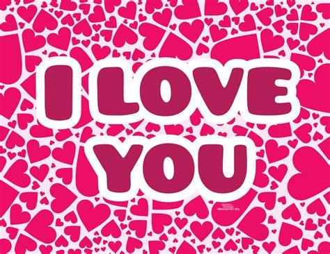 Corazones rosas con i love you para imprimir