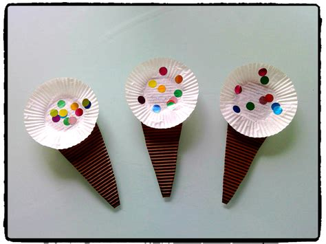 cornets de glace, été, bricolage enfant | L été ...