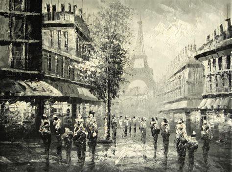 Cuadros modernos, cuadros de ciudades, Una calle de Paris