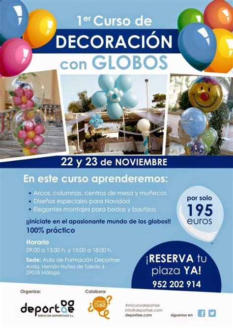 Curso de decoración con globos en Málaga   Deportae ...