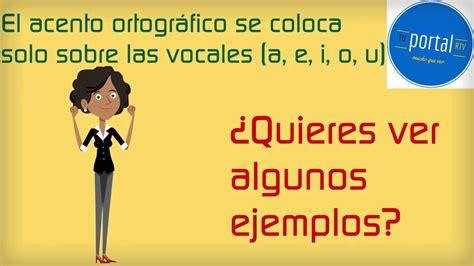Curso de ortografía en español: Capítulo 2   El acento ...