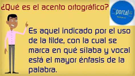 Curso de ortografía en español: Capítulo 3   El acento ...