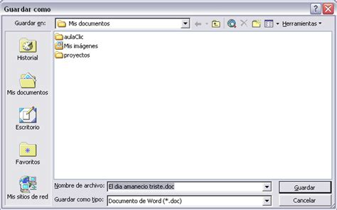 Curso gratis de Microsoft Word 2003. Unidad 4. Guardar y ...