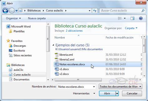 Curso gratis de Word 2010. aulaClic. 1   Mi primer documento