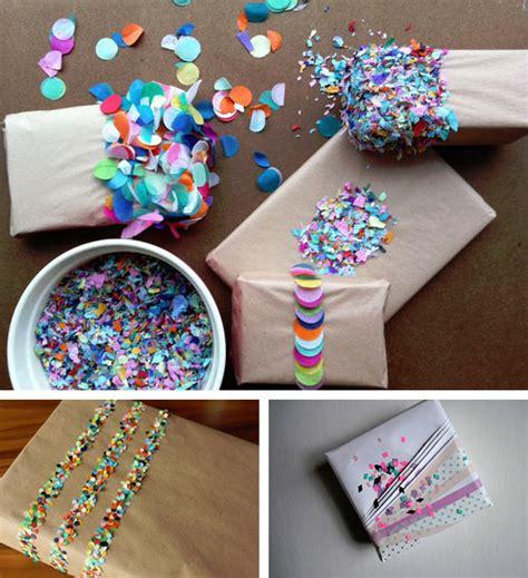 Decora tus regalos con confetti