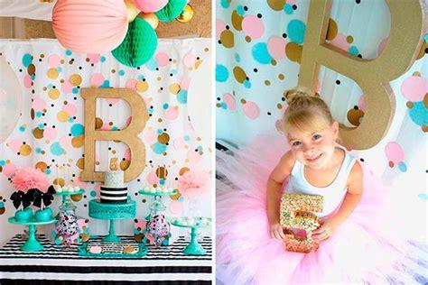 Decoración con confeti para cumpleaños de niña   Lluvia de ...