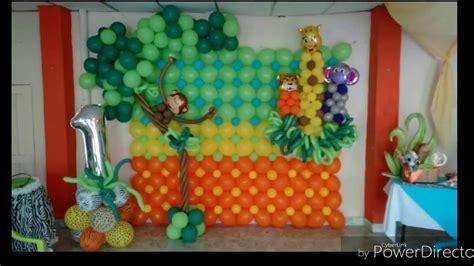 Decoración con globos  Fiesta infantil safari    YouTube