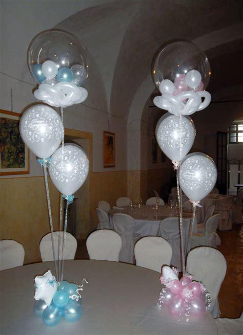 decoracion con globos para bautizo niño y niña 1 ...