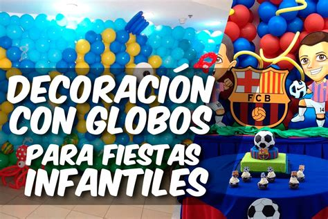 decoracion con globos para fiestas infantiles   YouTube