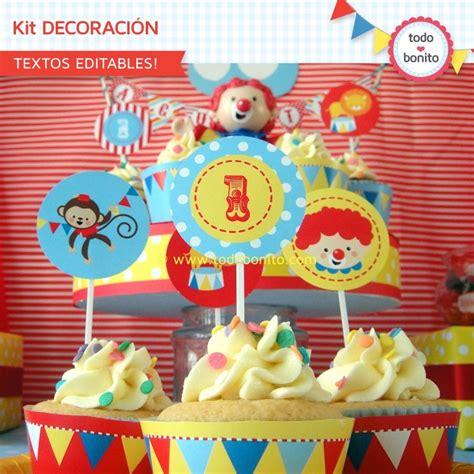 Decoracion de cumpleaños de circo